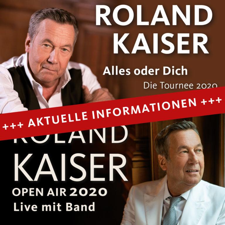 Achtung, Veranstaltungsverlegung! ROLAND KAISER