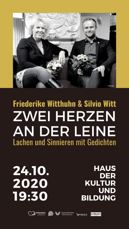 Achtung, Veranstaltungsverlegung! Friederike Witthuhn & Silvio Witt